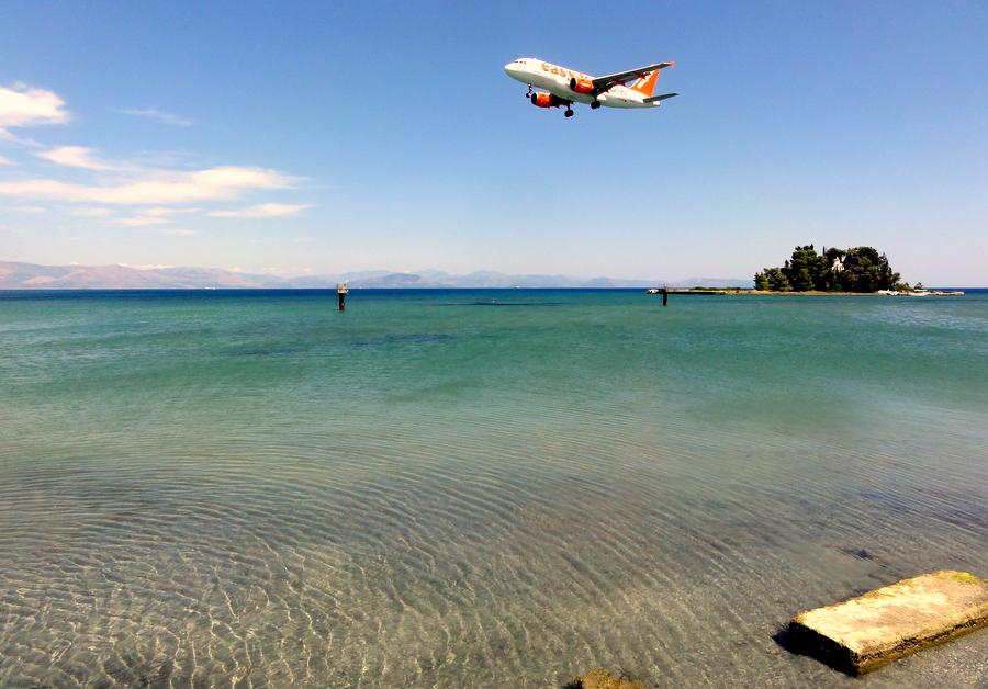 Corfu by plane